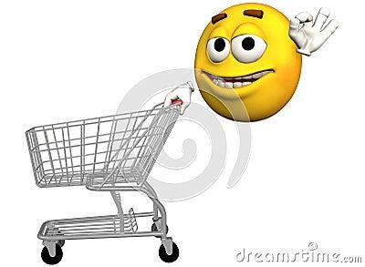 El Quinto Día, Frank Schätzing. Carro-de-compras-sonriente-del-emoticon-thumb2986275