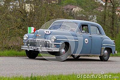 Carro Desoto do vintage de 1947 Imagem Editorial