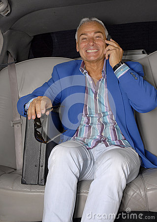 Carro do homem de negócios.