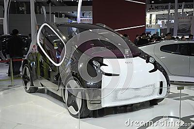 Carro elétrico do conceito de KIA Imagem Editorial