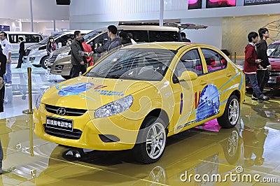 Carro elétrico puro de TONGYUE Foto de Stock Editorial