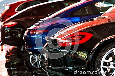 Carro para a venda Imagem Editorial