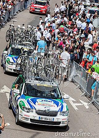 Carros da equipe de Saur-Sojansun Imagem de Stock Editorial