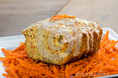 Carrot apple coffee cake with carrots