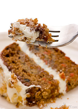 Carrot Cake On A Fork
