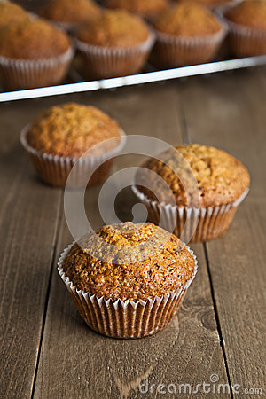 Free Carrot Cake Muffin Royalty Free Stock Photo - 52423915