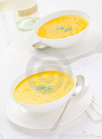 Carrot and Coriander Soup for Two