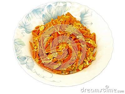 Carrot & egg stir-fry