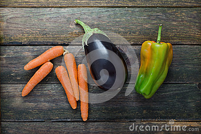 Carrot, Eggplant, Pepper