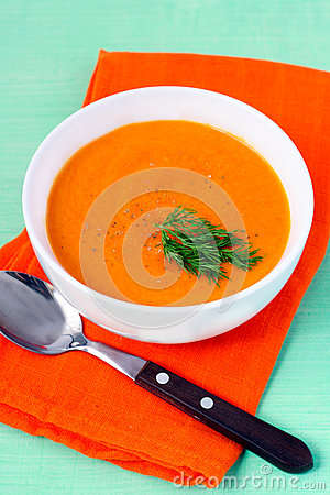 Carrot, ginger and orange soup