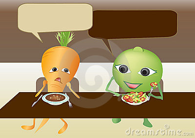 Carrot and pea are talking