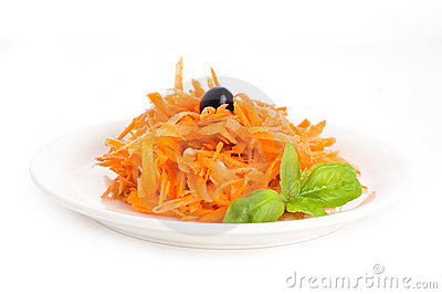 Carrot salad with pine nuts
