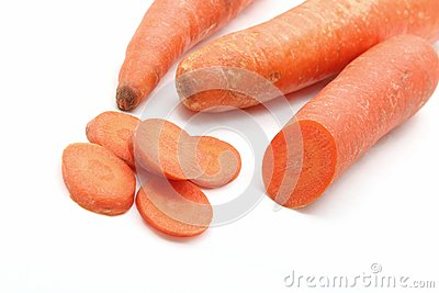 Carrot slice closeup