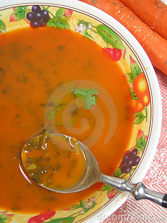 Free Carrot Soup Royalty Free Stock Images - 313109