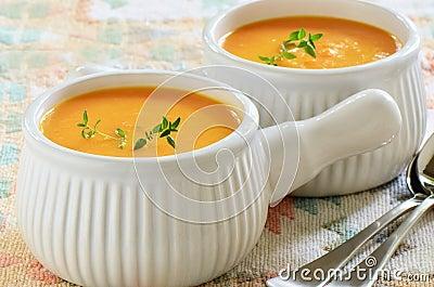Carrot sweet potato soup