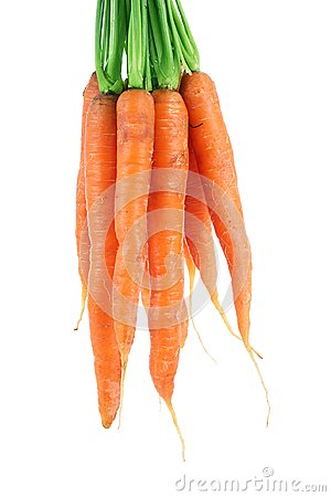 Free Carrots On White Background Royalty Free Stock Photography - 105574487