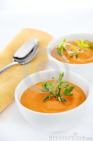 Free Carrots Soup Stock Photography - 45354092
