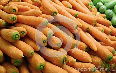 Carrots in supermarket