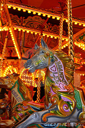 Free Carrousel Horse At Fairground Royalty Free Stock Photos - 6849688