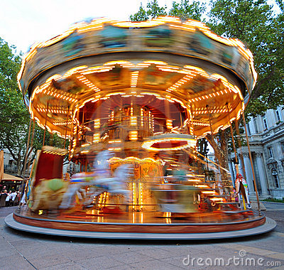 Free Carrousel In Motion Royalty Free Stock Photography - 11727177