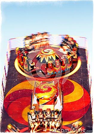 Carrousel - over de Bovenkant Redactionele Afbeelding