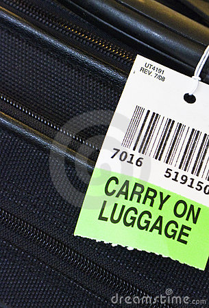 Carry on luggage label.
