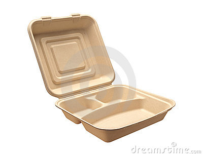 Carry Out Tray with clipping path