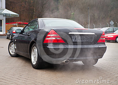 Cars And Air Pollution Royalty Free Stock Photos - Image: 24508128