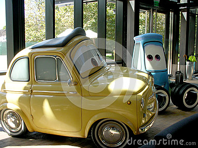 Cars animation characters from pixar studio film Editorial Photography