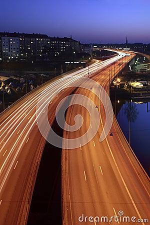Free Cars At Night Stock Photo - 2158050