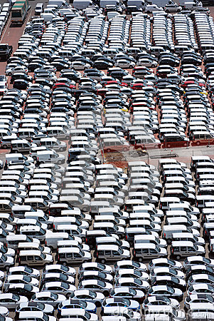 Cars awaiting sale