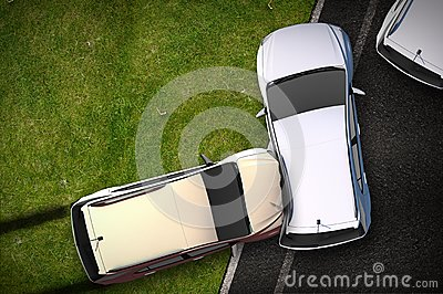 Cars Crash Illustration