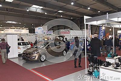 Cars displayed on AquaTherm 2012 in Prague Editorial Stock Photo
