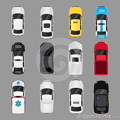 Free Cars Icons Top View Stock Photography - 45061052