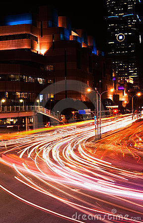 Cars light in city