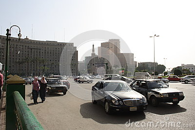Cars, Mogamma building in tahrir downtown Cairo Egypt Editorial Photography