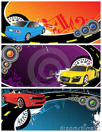 Cars and music background