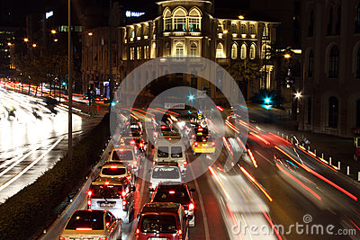 Cars on the street in Izmir Editorial Image