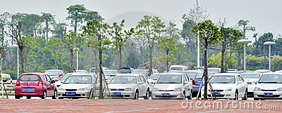 Cars parking Editorial Stock Photo