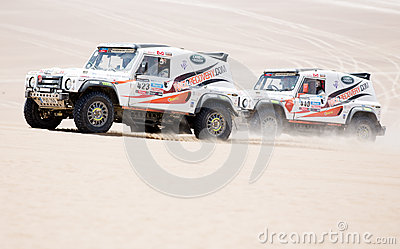 Cars race in Dakar 2013 Editorial Image