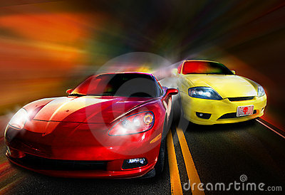 Cars Racing Royalty Free Stock Images - Image: 7809479