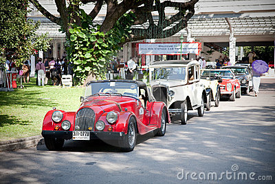 Cars row on Vintage Car Parade Editorial Stock Image