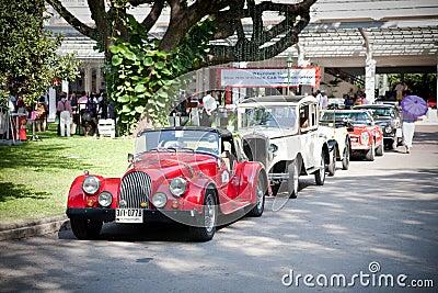 Cars row on Vintage Car Parade Editorial Stock Image