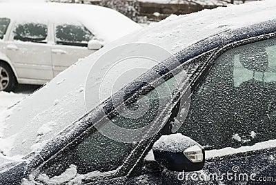 Cars in snow