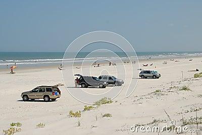 Cars on St Augustine beach