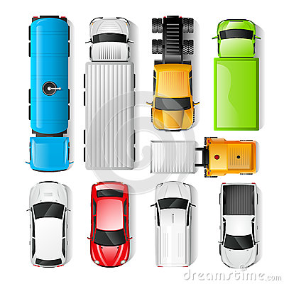 Free Cars Top View Stock Photos - 58740793