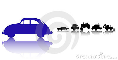 Cars and Trucks silhouette set