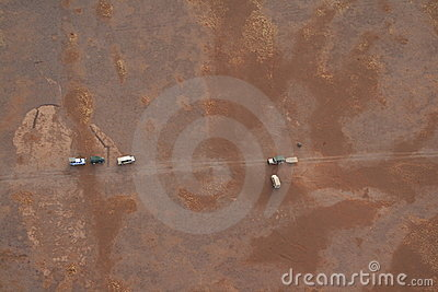 Cars viewed from above