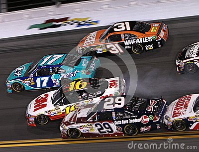 Cars wreck at Daytona Editorial Stock Photo