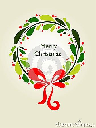 Cartão da grinalda do Natal - 1